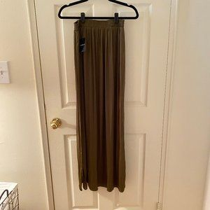 NWT Green Maxi Skirt